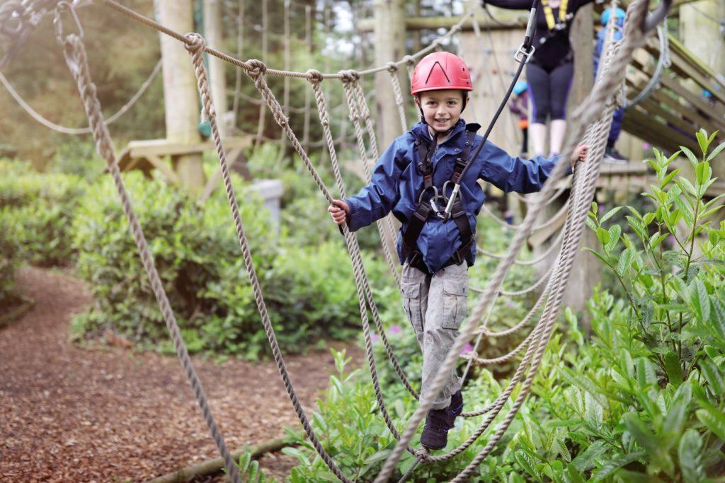 children doing outdoor adventure in Cheshire